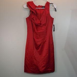 NWT Allen B. By Allen Schwartz satin ruffle dress